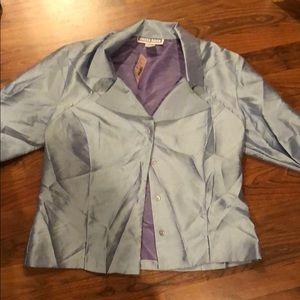 Light blue silky blouse size large